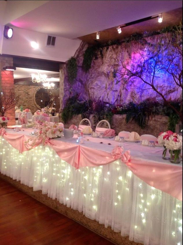 The gallery for gt quinceanera hall decorations pink