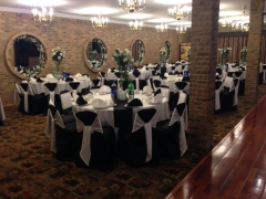Black and white decorations for wedding, B-day, sweet 16