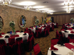 Elegant red,white and black Weddings/Quinceañeras decorations for your Event in Chicago Ballroom
