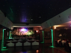 Chicago Quinceañeras Banquet Hall with a large dance floor and  animation starry sky ceiling