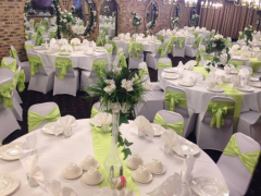 Banquet hall elegantly decorated for events, weddings, sweet 16, sweet sixteens, quinceaneras, baptism in Chicago