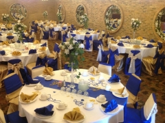 Royal Blue And Gold Wedding Decorations Picture Gallery Decorated Interior For Receptions