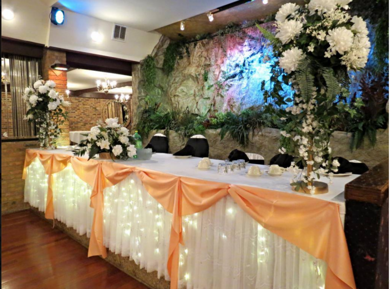 wedding hall decorations picture gallery decorated interior for wedding 9690
